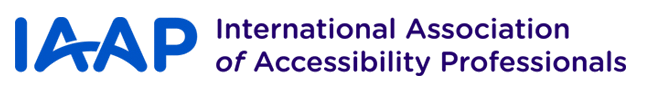 IAAP: International Association of Accessibility Professionals (Logo)