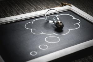Image of a light bulb symbolizing and idea.