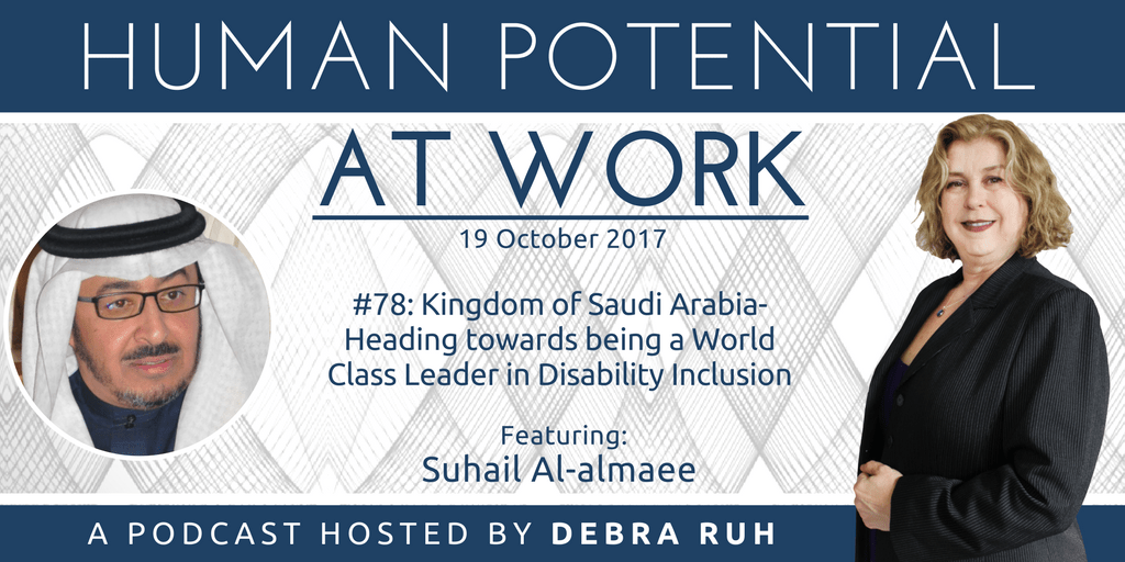 Human Potential at Work Podcast Show Flyer for Episode #78: Kingdom of Saudi Arabia- Heading towards being a World Class Leader in Disability Inclusion