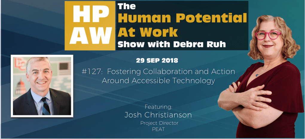 Episode Flyer for #127 Fostering Collaboration and Action Around Accessible Technology