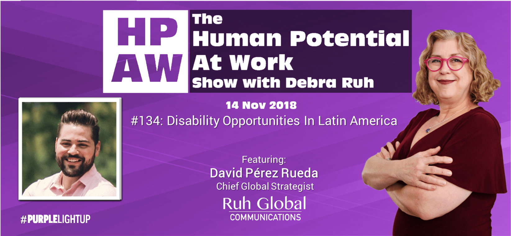 Episode Flyer for #134 Disability Opportunities In Latin America