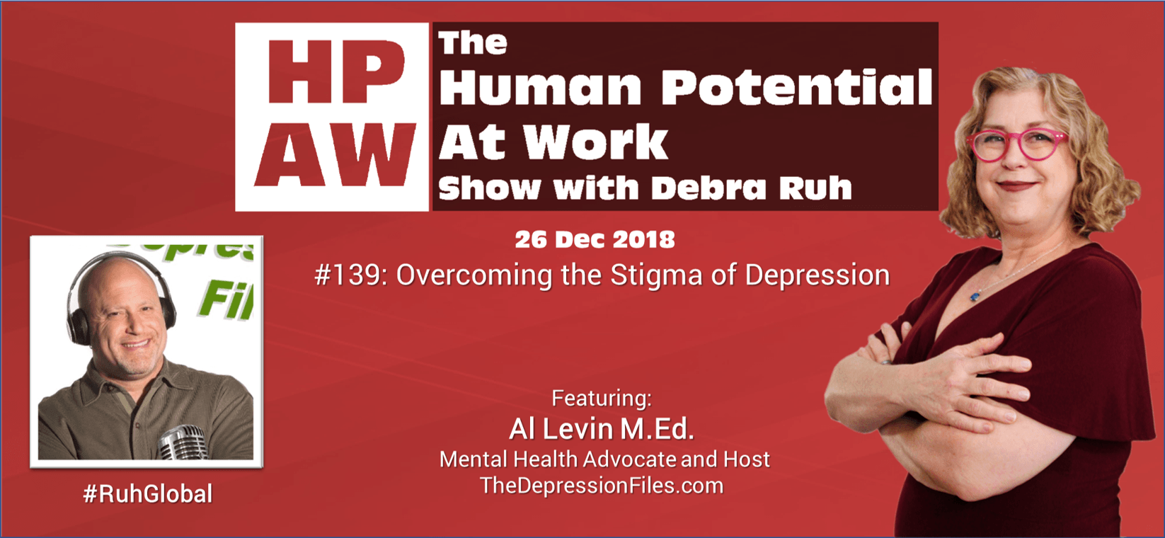 Episode Flyer for #139 Overcoming the Stigma of Depression