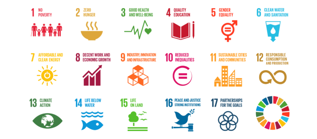 All the sustainable development goals and their icons.