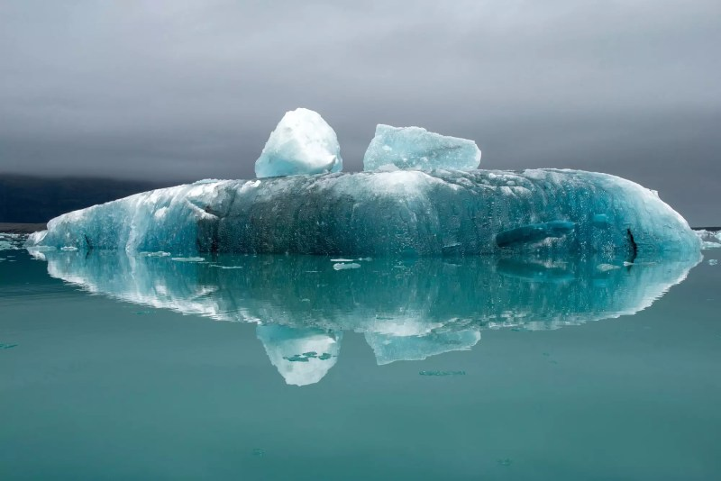 Melting icebergs as a result of climate change floating in Jokulsarlon glacial lagoon. Iceland
