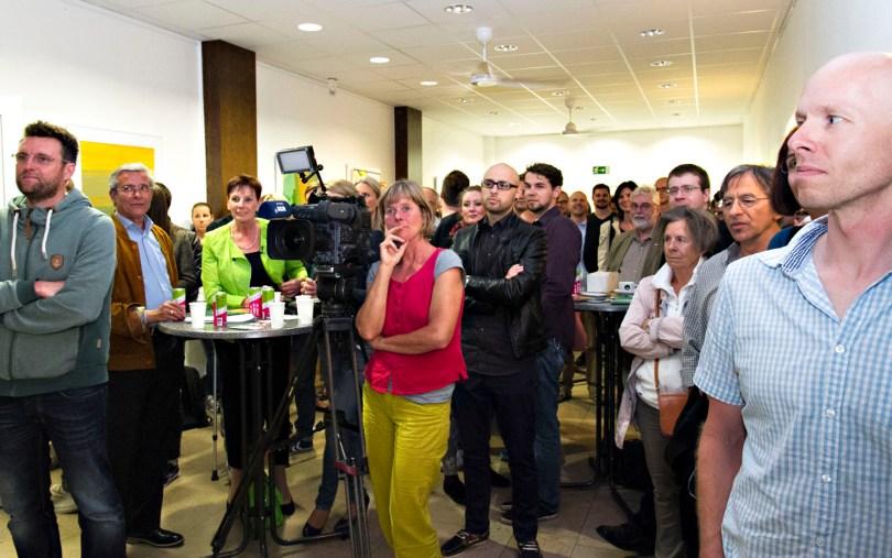Volles Haus bei der ersten FuckUp Night Ruhrgebiet: Mehr als 100 Gäste waren dabei. (Foto: Carmen Radeck)