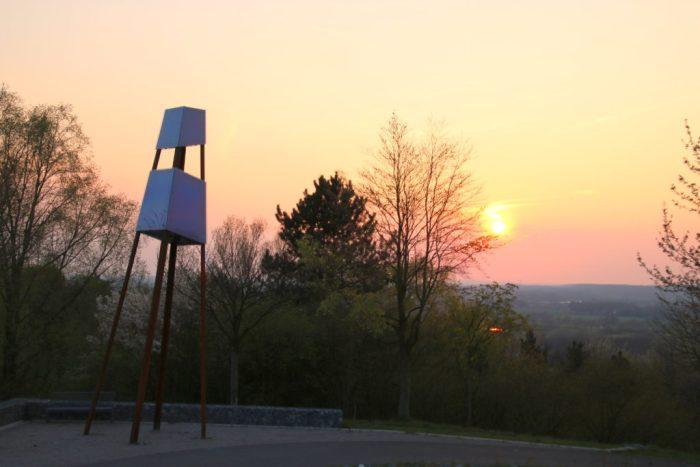 Abendsonne mit leuchtturm