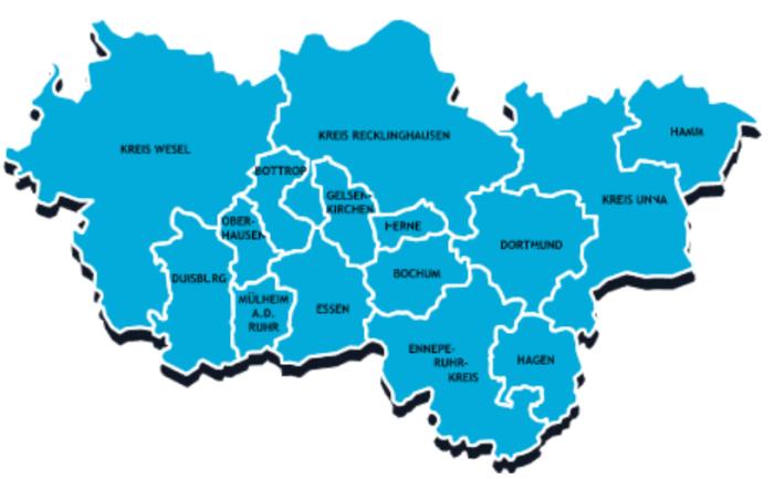 Kartenübersicht Metropole Ruhr