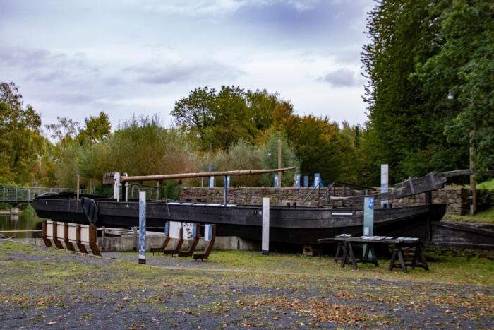 Ein altes Transport Schiff