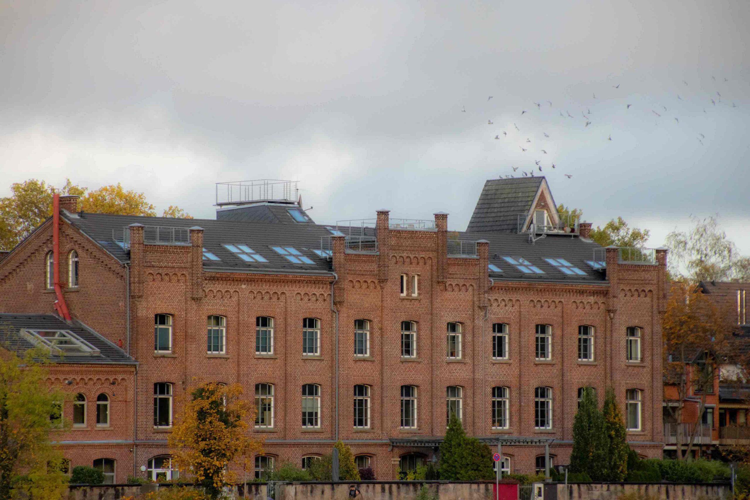 Blick auf die alte Tuchfabrik