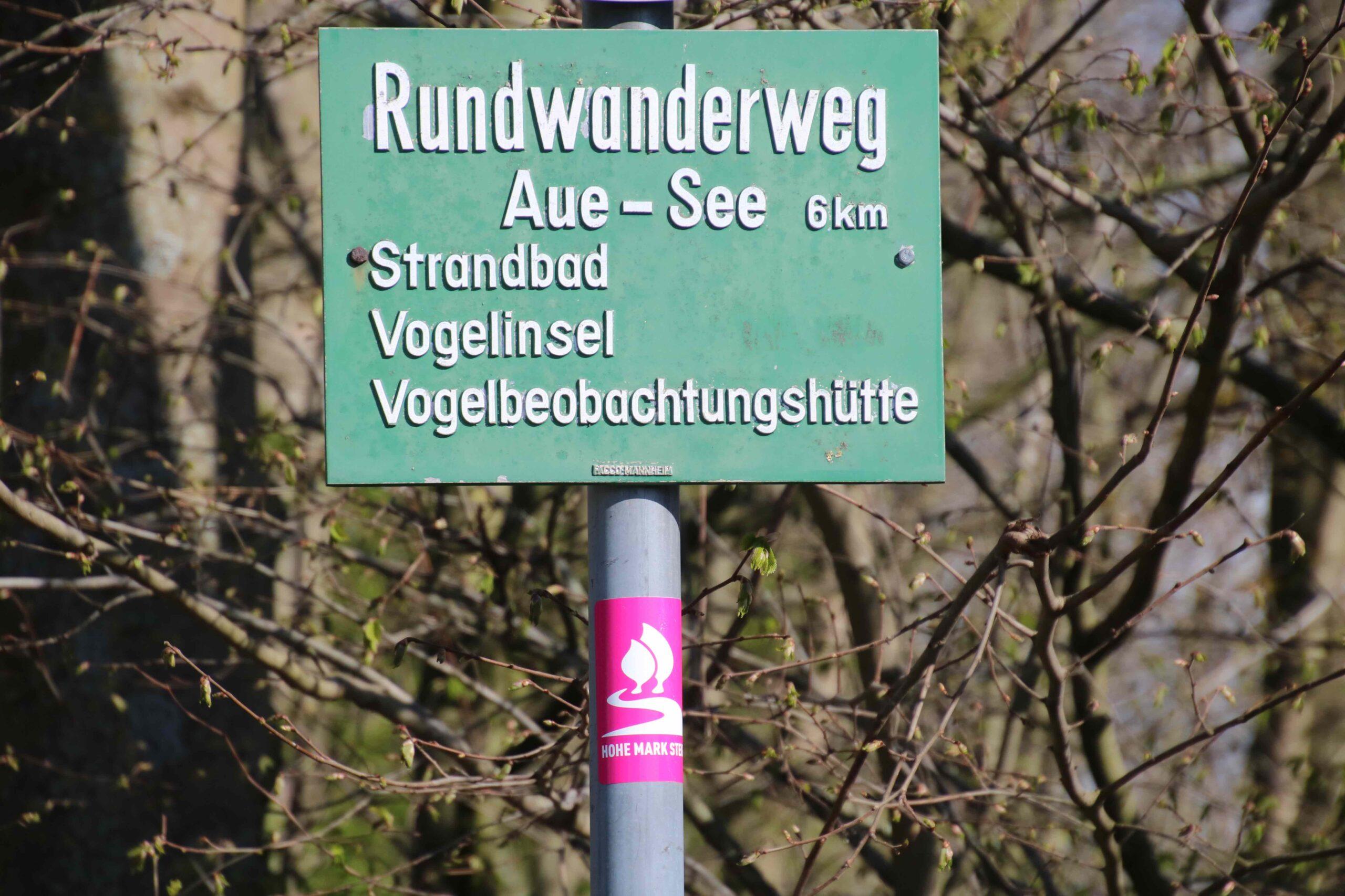 Hinweistafel Rundwanderweg
