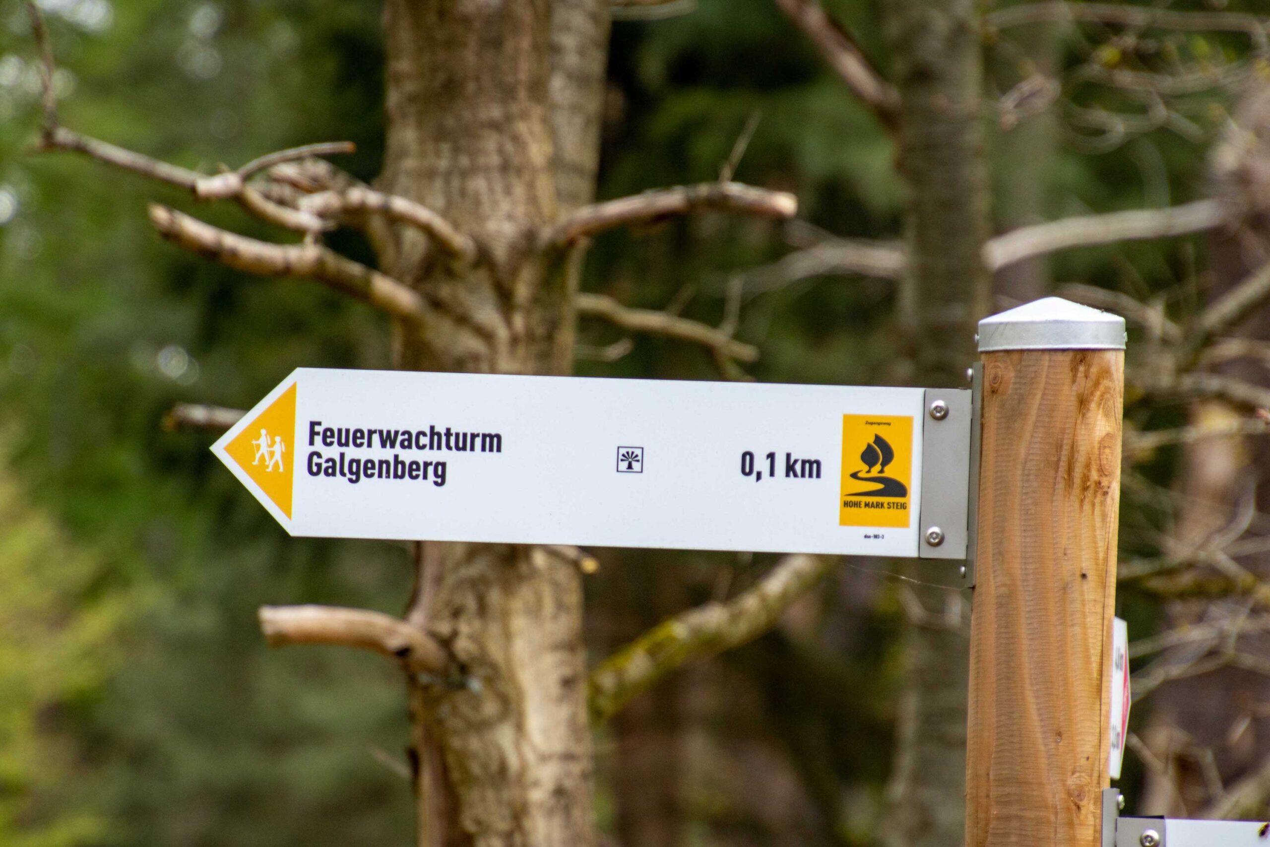 Hinweisschild zum Galgenberg