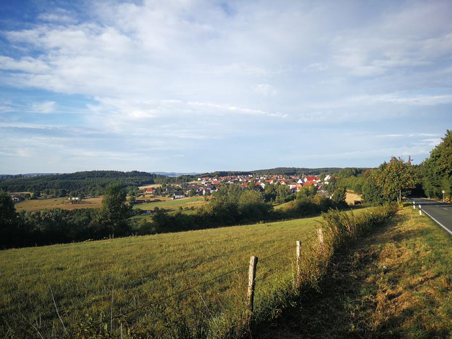 Blick Meerhof Marsberg Sauerland