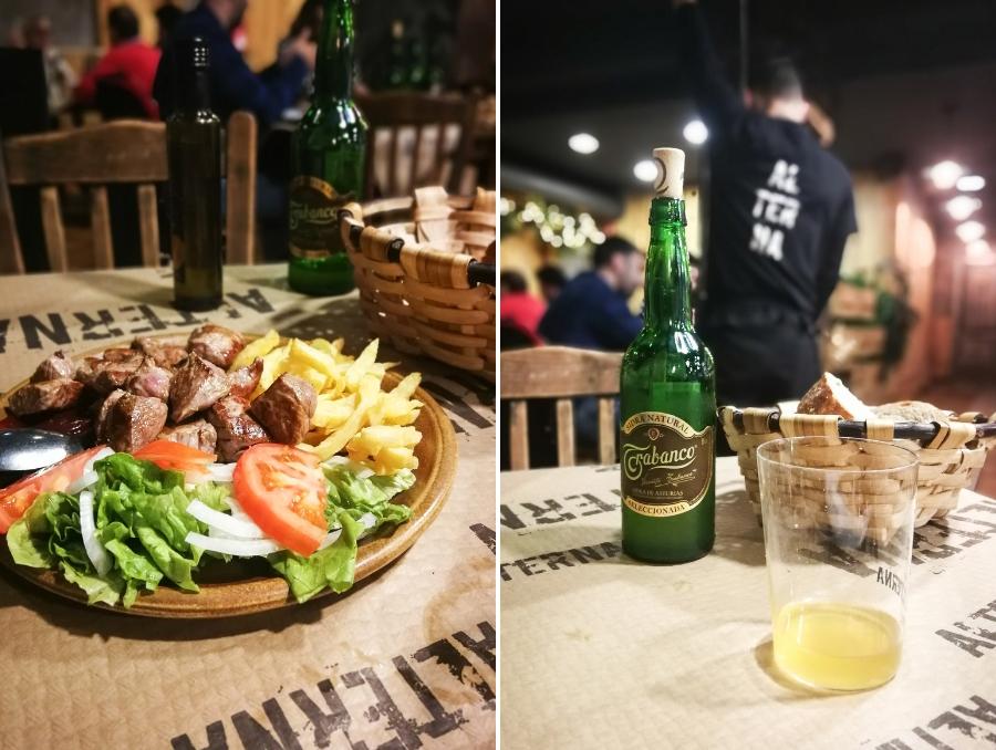 Deftiges Essen in Oviedo an der Nordküste Spaniens