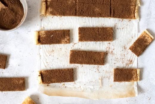Schnelle, adventliche Zimtschnitten mit leckerer Frischkäsefüllung und feiner Vanillenote