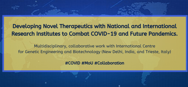 Developing Novel Therapeutics with National and International Research Institutes to Combat COVID-19 and Future Pandemics.