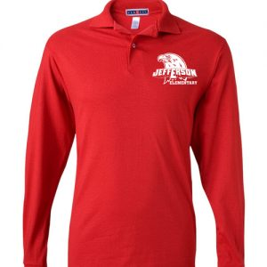 Jefferson Elementary Adult Long Sleeve Polo Shirts