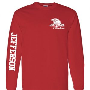 Jefferson Elementary School Adult Long Sleeve T-Shirts Red