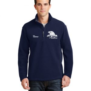 Jefferson Elementary Adult Quarter Zip Fleece Navy