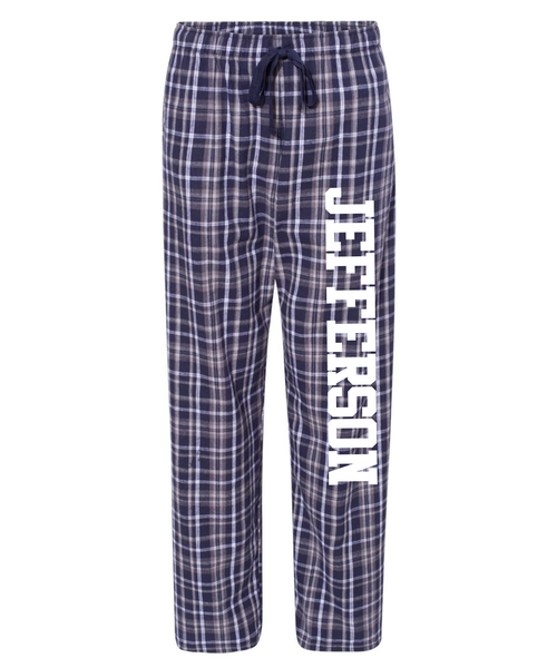 Jefferson Elementary Adults Flannel Pants with Pockets