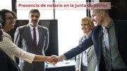 Presencia de notario en la junta de socios