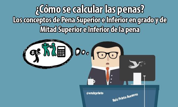 ¿Cómo calcular las penas? Los conceptos de Pena Superior e Inferior en grado y de Mitad Superior e Inferior de la pena
