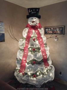Inspirasi Dekorasi Pohon Natal Berbentuk Manusia Salju
