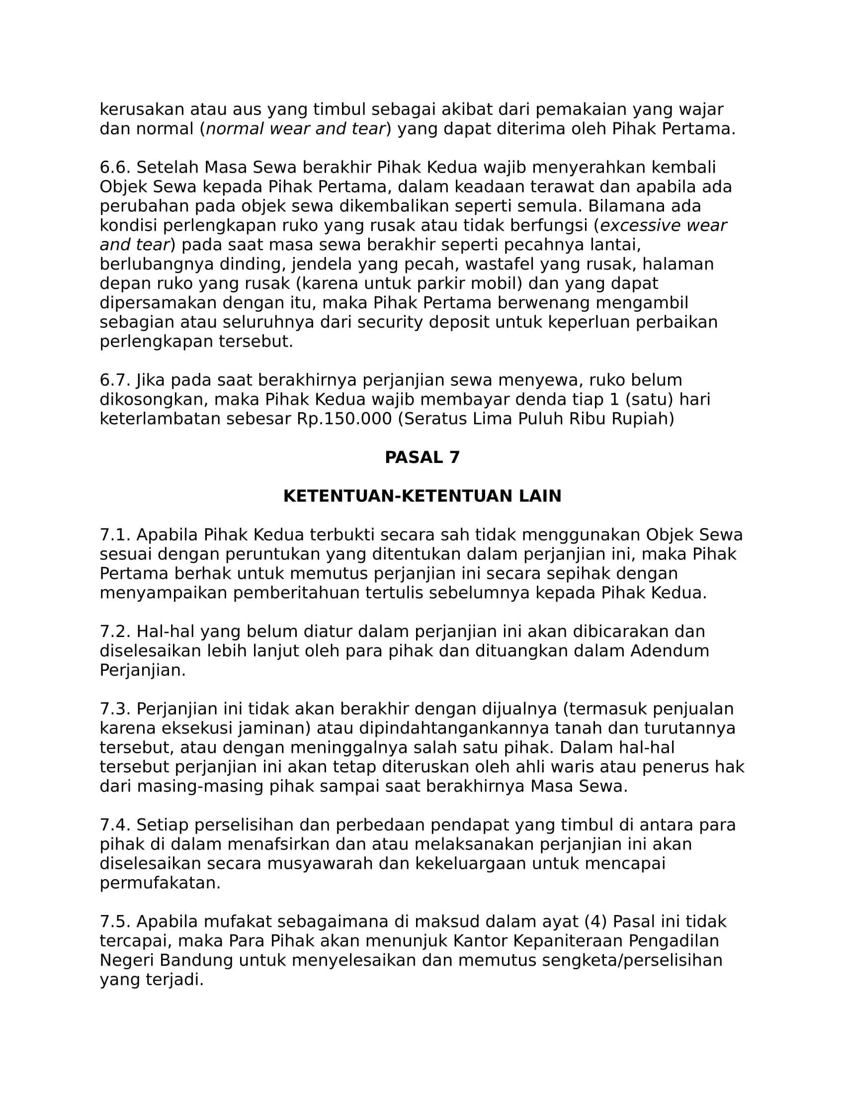 Perjanjian Sewa Ruko dari Lamudi 5