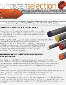 The arc zone tungsten selection guide also welding supplies ebay stores rh ebaystores