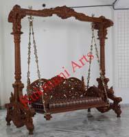 Code 125 Buy Carved Indian Maharaja Wooden Swings Wooden