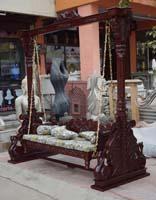Code 149 Buy Carved Indian Maharaja Wooden Swings Wooden
