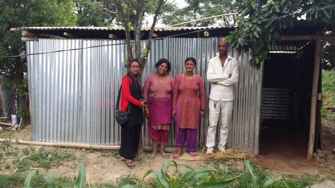 3 pramila jee observing temp shed of Anjana poudel