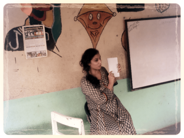 Going over teaching techniques with teachers at Shikharapur School