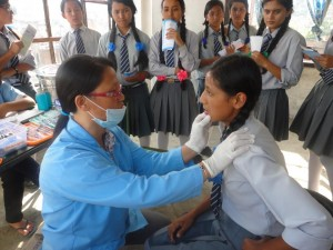 Dental checkups, which are rare for this area were also done.
