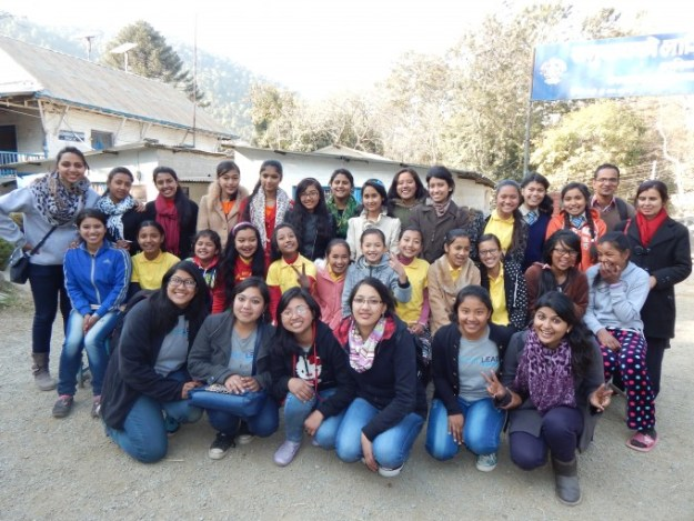 Group photo after a beautiful event. Thank you LitWorld, and Women Lead Nepal