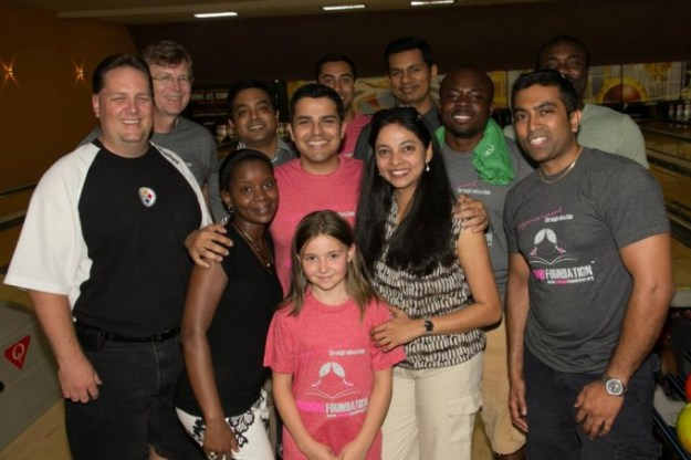 Raising funds to support girls education through fun events like bowling in Columbus, OH.