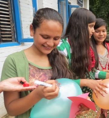 Sarathi taking part in StandUp4Girls