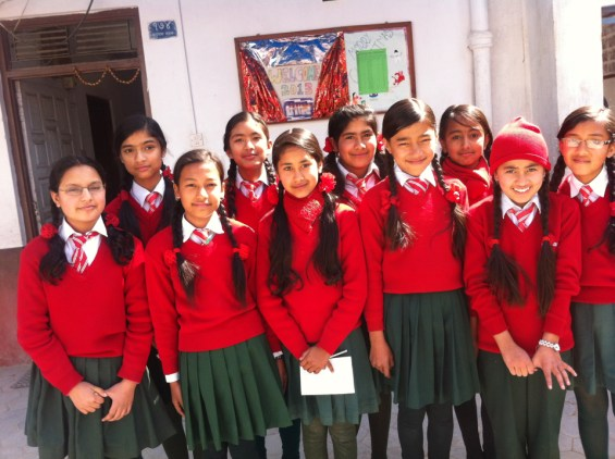Girls of the LitClub Niharika are excited to have us be the first LitClub in Nepal.