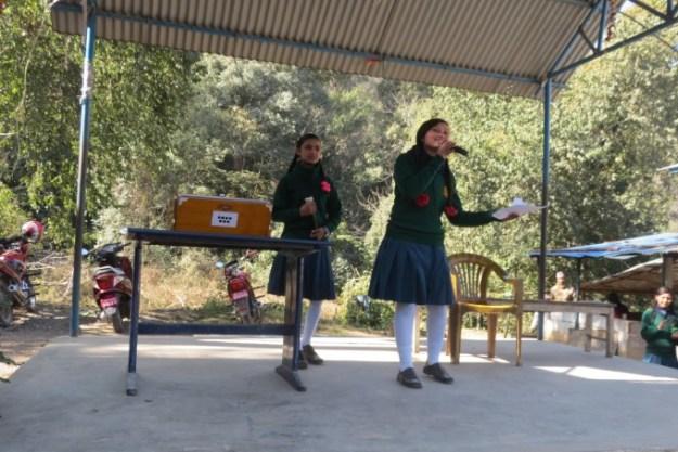 Roji and Sajina entertain the audience