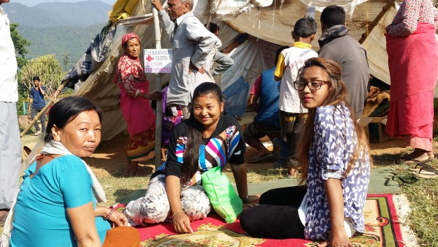 Sonu (Mid) and her mother visits our mobile camp