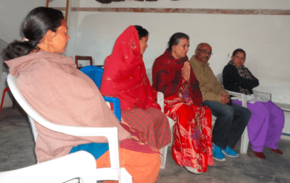 Meeting with family members of scholars and community leaders in Nepal
