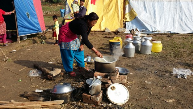 common tent where our scholar Sonikas mother cooking food