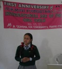 Sarathi fights nerves to deliver a wonderful speech.