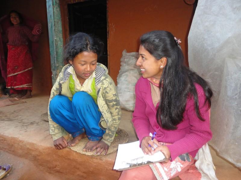 Working in Rukmini Foundation Nepal
