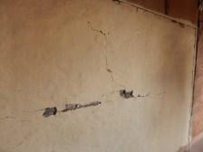 Cracks of Jonisha's house