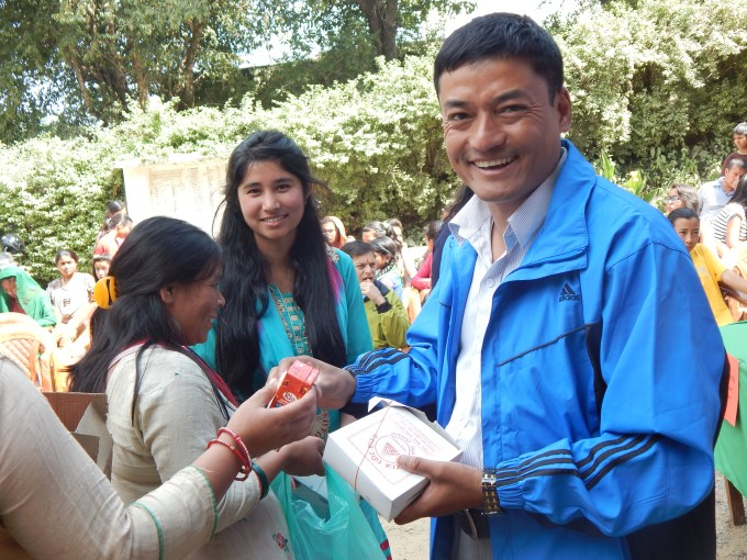 Lunch distribution