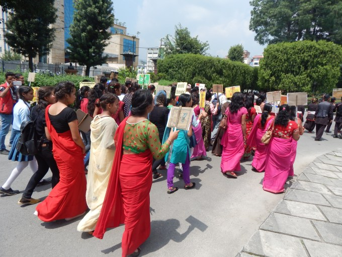our demonstration rally with message of literacy