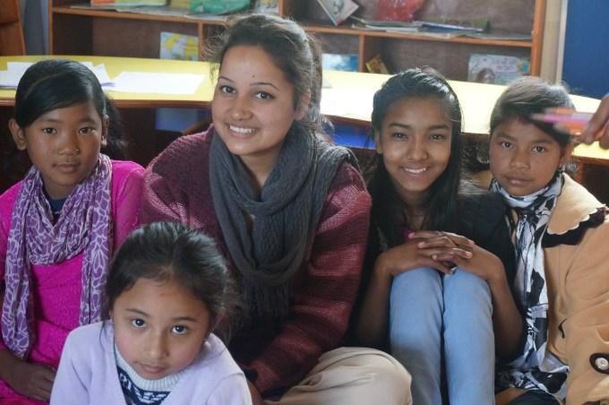 Didi Puja with Sabina, Sajani and Ranjana