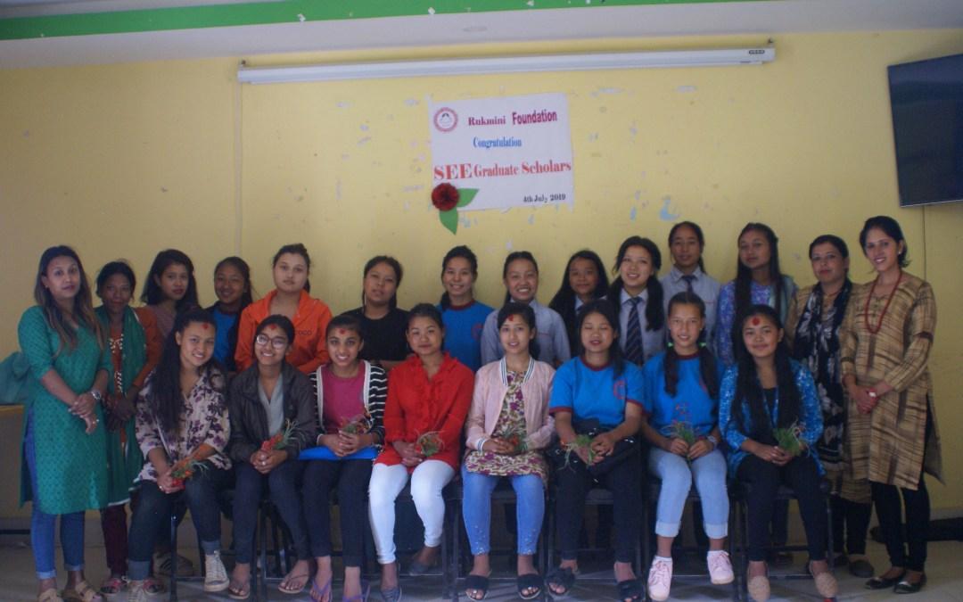 Celebrating Rukmini SEE Graduates and Their Academic Future