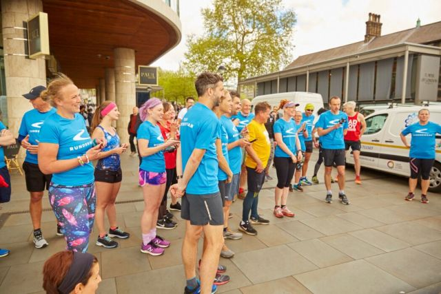 Variety of runner's bodies on show at the Runderwear day with Secret London Runs.