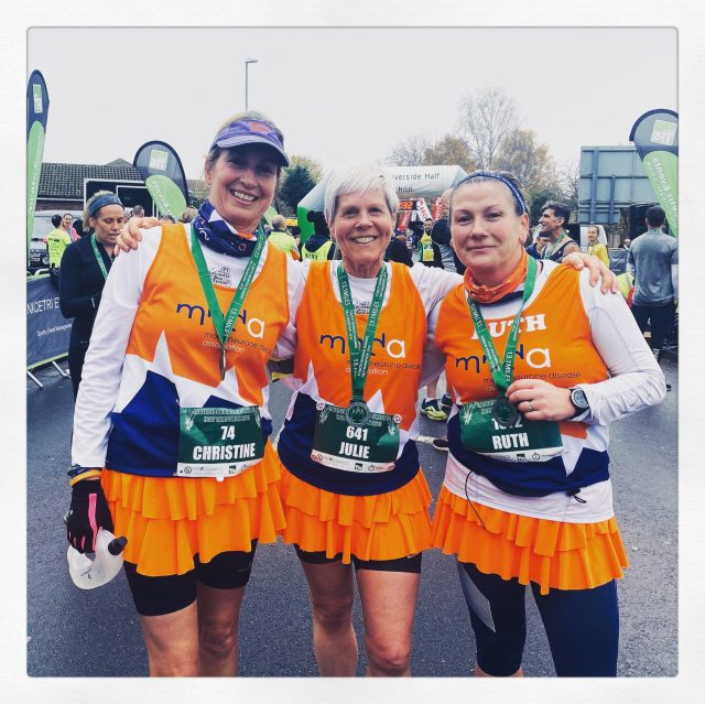 Finish Line Medal Photo at St. Neots half marathon 2019